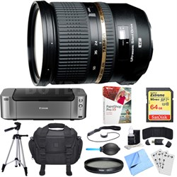 SP 24-70mm f2.8 Di VC USD Lens for Canon EOS Mount Dual Mail in Rebate Bundle