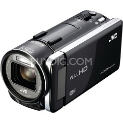 "GZ-GX1BUS - HD Everio Camcorder 3.5"" Touchscreen 10x Zoom f1.2  WiFi (Black)"