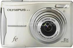 FE-46 12MP Digital Camera w/ 5x Optical Zoom, 2.7 inch LCD (Pearl White)