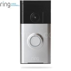 Video Doorbell Wi-Fi Enabled Smartphone Compatible (Satin Nickel)