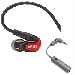 W10 Premium Single Driver In-Ear Monitor Noise Isolating Headphones w/ iEMATCH