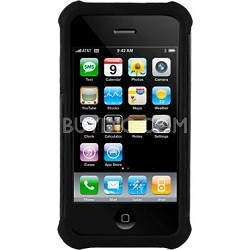 iPhone 4/4S Ballistic Shell Gel (SG) Series Case - Black/Black