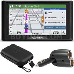 Drive 50LM GPS Navigator Lifetime Maps (US) 010-01532-0C Case + Charger Bundle