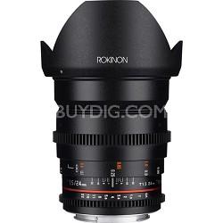DS 24mm T1.5 Full Frame Wide Angle Cine Lens for Sony E Mount