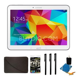 "Galaxy Tab 4 White 16GB 10.1"" Tablet and Case Bundle"