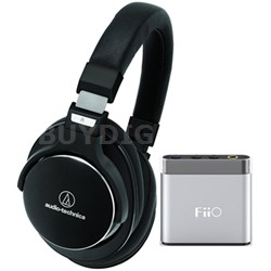 SR7 SonicPro High-Resolution Noise Cancellation Headphones w/ FiiO A1 Amplifier