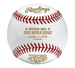 2009 Official World Series Baseball in Cube