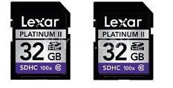 Platinum II SD/SDHC (100x) 2-Pack 32 GB Memory Cards