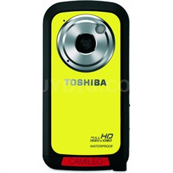 CAMILEO Full HD 1080P Waterproof Camcorder, Yellow - OPEN BOX