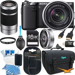 NEX5NK/B - NEX-5N Black SLR Camera w/ 18-55mm & 55-210mm & 16mm Lenses
