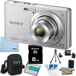 Cyber-shot DSC-W610 Silver 8GB Digital Camera Bundle