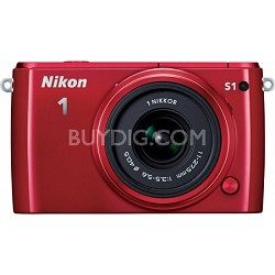 1 S1 10.1MP Red Digital Camera with 11-27.5mm Lens Factory Refurbished