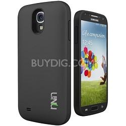 Unity Ultra-Slim 2600mAh Battery Case for Samsung Galaxy S4 - Black/Black