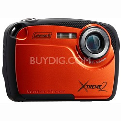 "16MP Waterproof Digital Camera with 2.5"" LCD Screen HD Video (Orange) C12WP-O"