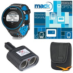 Forerunner 620 Black/Blue Deluxe Bundle with Heart Rate Monitor