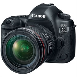 EOS 5D Mark IV 30.4 MP Full Frame CMOS DSLR Camera + EF 24-70mm f/4L IS USM Lens