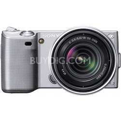 Alpha NEX-5 Interchangeable Lens Silver Digital Camera w/ 18-55mm Lens