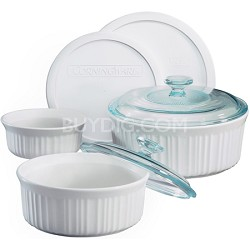 French White 7-Piece Bake and Serve Set - OPEN BOX