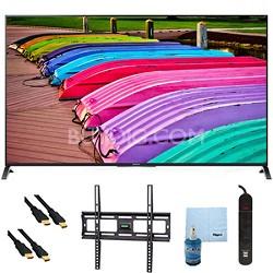 "65"" 3D 4K Ultra HD Smart TV Motionflow XR 240 Mount & Hook-Up Bundle XBR65X850B"