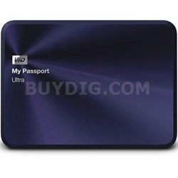 My Passport Ultra Metal Edition 1TB Blue - WDBTYH0010BBA-NESN - OPEN BOX
