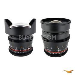 Sony E-Mount 2 Cine Lens Kit (14mm T3.1, 24mm T1.5)