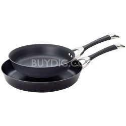 "Symmetry Hard Anodized Nonstick 10"" and 12"" Skillets Twin Pack"