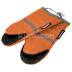 2 Pack Cotton Puppet Oven Mitt with Silicone Grip - Rust