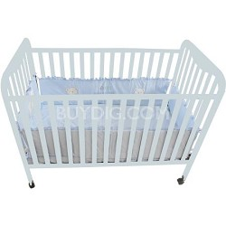 Full Size 3 Level Solid Wood Baby Crib - White