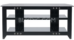 """NFV249 - Natural Three Shelf A/V Stand for TVs up to 52"""" (Black Finish)"""