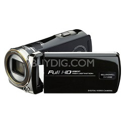 Cinema DV12HDZ-BK 1080p Full HD 10x Opt Zoom 3-Inch LCD Video Camcorder