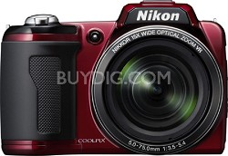 COOLPIX L110 Digital Camera (Red)(Refurbished)