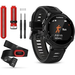 Forerunner 735XT GPS Running Watch Run-Bundle with Red Band - Black/Gray