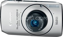 Powershot SD4000 IS 10.1 MP Digital ELPH Camera (Silver)