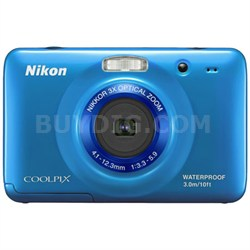 COOLPIX S30 10.1MP 2.7 LCD Waterproof Digital Camera - Blue (Refurbished)