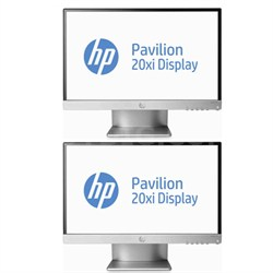 "2 Pavilion 20xi 20"" IPS LED Backlit Monitors Bundle"