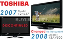 "42HL67 - 42"" High-definition LCD TV (changed to the 42AV500 current 2008 model)"