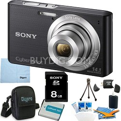 Cyber-shot DSC-W610 Black 8GB Digital Camera Bundle