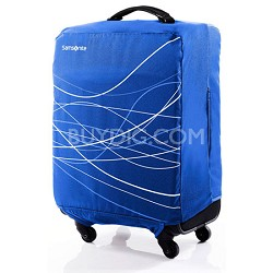 Foldable Luggage Cover, Medium - Blue