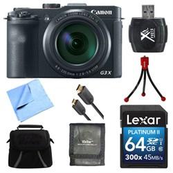 Powershot G3 X Digital Compact Camera 64GB Card Bundle