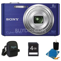 DSCW730 16 MP 2.7-Inch LCD Digital Camera Blue Kit