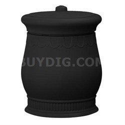 Savannah Urn in Black - SV-URN-BLK