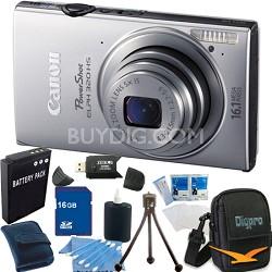 PowerShot ELPH 320 HS 16MP Silver Digital Camera 16GB Bundle