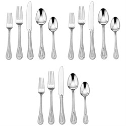 3-Pack of 20-Piece Flatware Set, Fampoux CFE-01-FP20