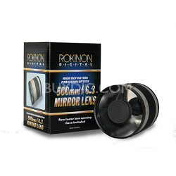 500mm f/6.3 Multi-Coated ED Mirror Lens for Canon DSLR Cameras