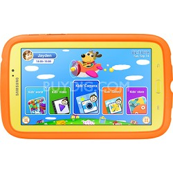 "Galaxy Tab 3 - 7.0"" Kids Edition (Yellow w/ Orange Bumper Case) - SM-T2105GYYXAR"