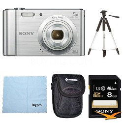 DSC-W800 Point and Shoot Digital Still Camera Silver Kit