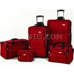 5 Piece Nested Luggage Set (Red) - OPEN BOX