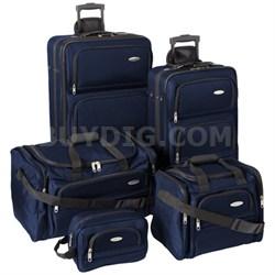 5 Piece Nested Luggage Set (Navy)