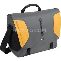 """15.4"""" Lightweight Sport Messenger Bag - Gray and Yellow"""