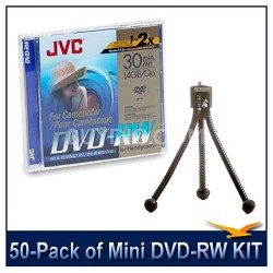 50-Pack of Mini DVD-RW Rewriteable 1.4GB Discs f/ Sony DVD Camcorders 25 2-packs